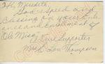"Mrs. E. Lou Thompson to ""Hi Meredith"" (28 September 1962) by Mrs. E. Lou Thompson"