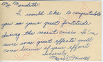 Mary E. Tdussey to Mr. Meredith (10 October 1962) by Mary E. Tdussey