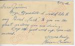 """Vivian Cararn to """"Dear James"""" (27 September 1962) by Vivian Cararn"""