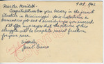 Jane E. Bianco to Mr. Meredith (11 October 1962) by Jane E. Bianco
