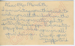 One of your many supporters to Mr. Meredith (29 September 1962) by Author Unknown