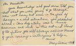 Mary Swain to Mr. Meredith (6 October 1962) by Mary Swain