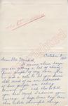 Joyce W. Bonura to Mr. Meredith (3 October 1962) by Joyce W. Bonura