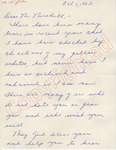 Mrs. Gladys [Tuitrup] to Mr. Meredith (1 October 1962) by Mrs. Gladys Tuitrup