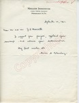 Avron [A] Blumberg to Mr. and Mrs. J.H. Meredith (28 September 1962) by Avron [A] Blumberg