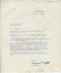 Margaret Buffett to Mr. Meredith (28 September 1962) by Author Unknown