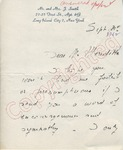 Simone Smith to Mr. Meredithe (21 September 1962) by Simone Smith
