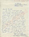 Elizabeth Batehelder to Mr. Meredith (1 October 1962) by Elizabeth Batehelder