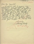 Stanley Brady to Mr. Meredith (1 October 1962) by Stanley Brady