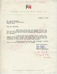Susan Blaylock to Mr. Meredith (1 October 1962) by Susan Blaylock Blaylock