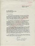 Frances M. Brooks to Mr. Meredith (1 October 1962) by Frances M. Brooks