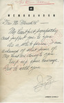 J. Z. to Mr. Meredith (2 October 1962) by Author Unknown