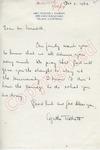 Agatha Talbott to Mr. Meredith (2 October 1962) by Agatha Talbott