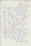 Mrs. Vernon Cobb to Mr. Meredith (2 October 1962) by Mrs. Vernon Cobb