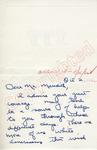 Julia Thornbury to Mr. Meredith (2 October 1962) by Julia Thornbury