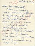 Mrs. [Walres] W. Sutton to Mr. Meredith (2 October 1962) by Mrs. [Walres] W. Sutton