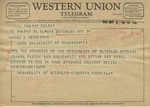 Students of University of Waterloo to James H. Meredith (2 October 1962) by Students of University of Waterloo