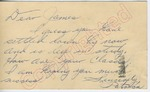 "Patricia to ""Dear James"" (27 September 1962) by Patricia Unknown"