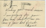 """Mamie to """"Hi James"""" (1 October 1962) by Mamie Unknown"""
