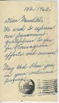"""The Su[j]ans to """"Dear Meredith"""" (3 October 1962) by The Su[j]ans"""