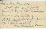 Mrs. Ernestine Davise to Mr. Meredith (2 October 1962) by Mrs. Ernestine Davise