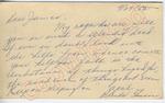 """Brenda Stinson to """"Dear James"""" (27 September 1962) by Brenda Stinson"""