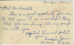 Mildred Riddle to Mr. Meredith (27 September 1962) by Mildred Riddle