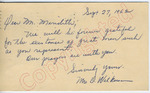 Mr. O. Wilkerson to Mr. Meredith (28 September 1962) by Mr. O. Wilkerson