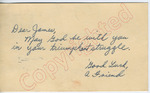 """A friend to """"Dear James"""" (27 September 1962) by Author Unknown"""