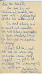 Byron Thompson to Mr. Meredith (8 October 1962) by Byron Thompson