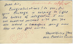 "Mrs. Caroline Cowan to ""Dear Sir"" (5 October 1962) by Mrs. Caroline Cowan"