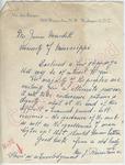 Mrs. J. Reinstein Jr. to Mr. James Meredith (Undated) by Mrs. J. Reinstein Jr.