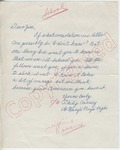 "Philip Carney to ""Dear Jim"" (Undated) by Philip Carney"