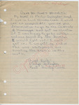 "Philip Gallagher to ""Dear Mr. James Meredith"" (Undated) by Philip Gallagher"