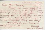 """Mrs. H. L. Rafford to """"Dear Mr. Meredith"""" (Undated) by Mrs. H. L. Rafford"""