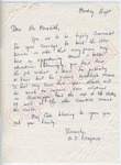 "M. I. Fitzgerald to ""Dear Mr. Meredith"" (Undated) by M. I. Fitzgerald"