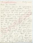 "Mrs. David Shelton to ""Dear Mr. Meredith"" (Undated) by Mrs. David Shelton"