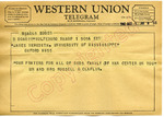 Mr. and Mrs. Russel G. Claflin to James Meredith (1 October 1962) by Mr. and Mrs. Russel G. Claflin