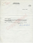 Greenville Clark to Mr. Meredith (4 October 1962) by Greenville Clark