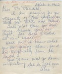 Alice to Mr. Meredith (4 October 1962) by Alice