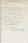Adelaide Morgan to Mr. Meredith (5 October 1962) by Adelaide Morgan