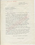 Antony R. Smith to Mr. Meredith (6 October 1962) by Antony R. Smith