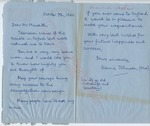Elaine Johnson (Mrs.) to Mr. Meredith (8 October 1962)