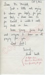 "Randi Smith to ""Mr. Merideth"" (11 December 1962) by Randi Smith"