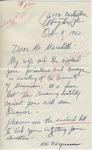 M.S. Bergmann to Mr. Meredith (10 October 1962) by M.S. Bergmann