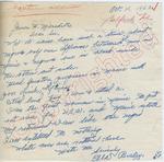 """Ella Braley to """"Dear Sir"""" (10 October 1962) by Ella Braley"""