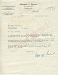 George Beard to Mr. Meredith (11 October 1962) by George Beard