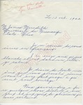 Gervaise Blier to M. James Meredith (12 October 1962) by Gervaise Blier