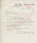 Richard Tewkesbury to NAACP re: James Meredith (30 October 1962) by Richard Tewkesbury