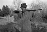 African American man with shotgun, image 002 by Martin J. Dain (1924-2000)
